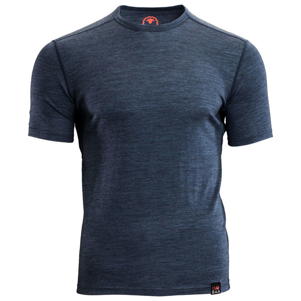 Mens Merino 150 Short Sleeve Crew (Denim)