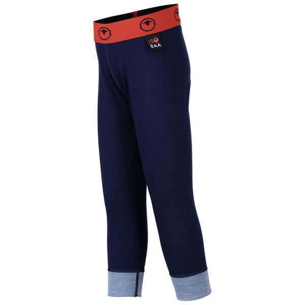 Kids Merino Blend 200 Leggings (Navy/Sky)