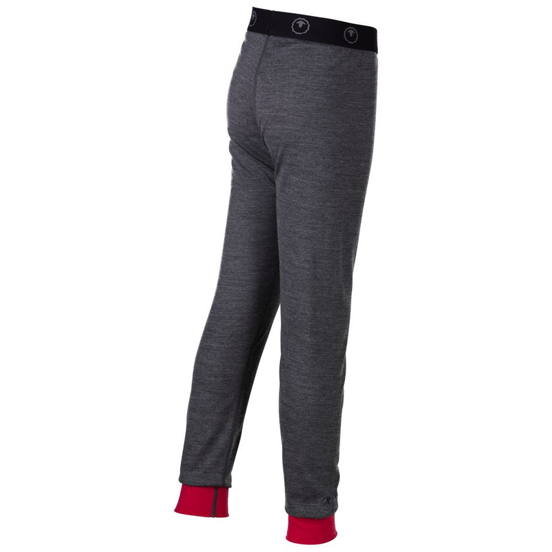 Junior Merino Blend 200 Leggings (Smoke/Fuchsia)