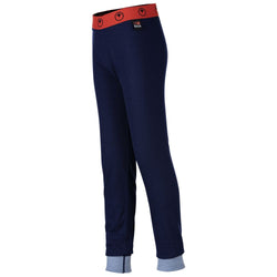 Junior Merino Blend 200 Leggings (Navy/Sky)