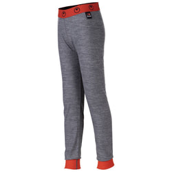 Junior Merino Blend 200 Leggings (Charcoal/Orange)