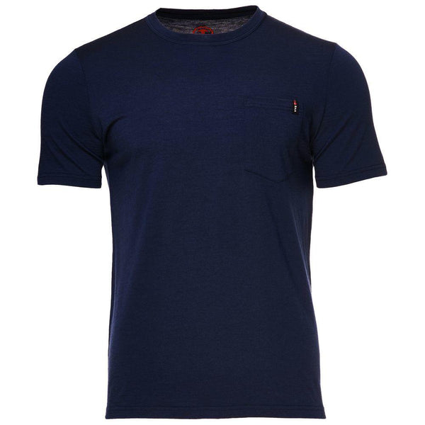 Isobaa Mens Merino 150 Pocket Tee (Navy)
