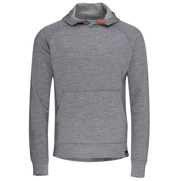 Isobaa Mens Merino 260 Lounge Hoodie (Charcoal/Orange)