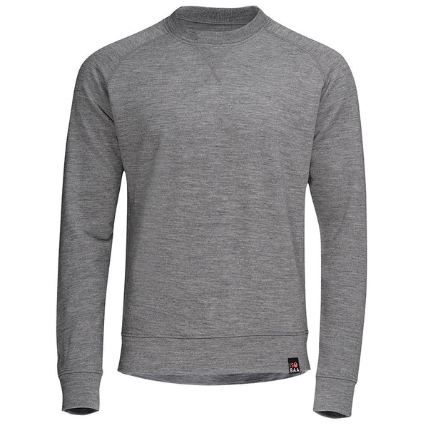 Isobaa Mens Merino 260 Lounge Sweatshirt (Charcoal/Orange)