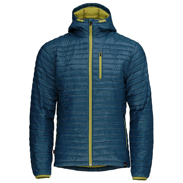 Isobaa Mens Merino Wool Insulated Jacket (Petrol/Lime)