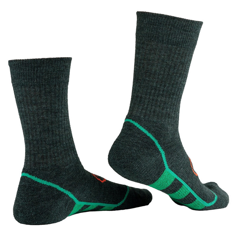 Merino Blend Hiking Socks (3 Pack - Forest/Green)