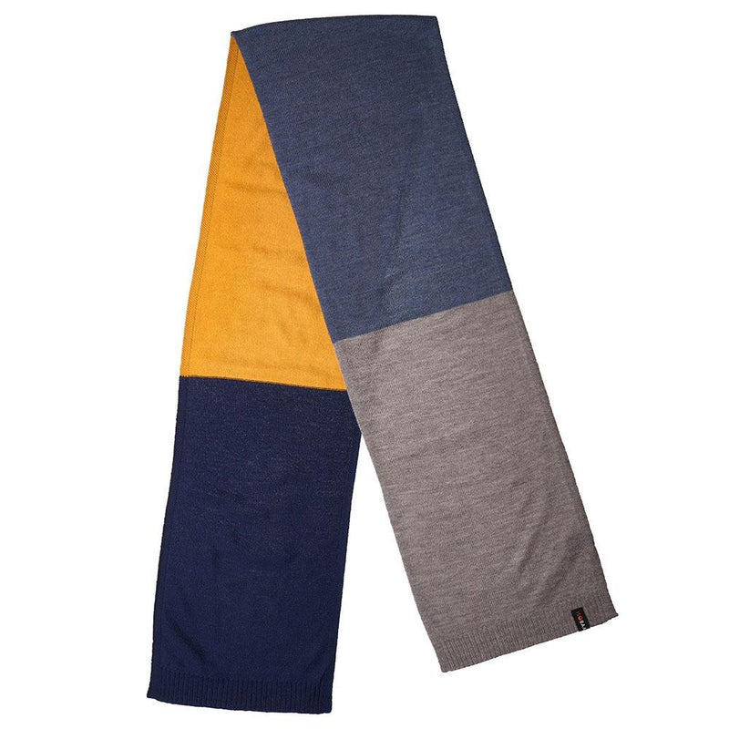 Isobaa Merino Block Stripe Scarf (Navy Mix)