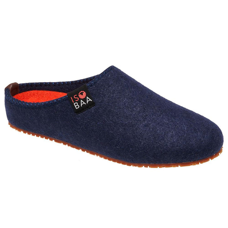 Isobaa Merino Wool Slipper (Navy/Orange)