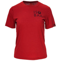 Isobaa Womens Merino 150 Logo Tee (Red)
