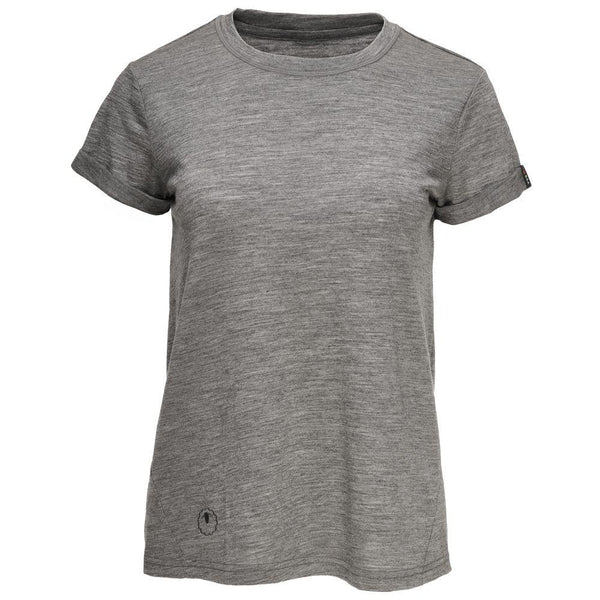 Isobaa Womens Merino 150 Roll Sleeve Tee (Charcoal)