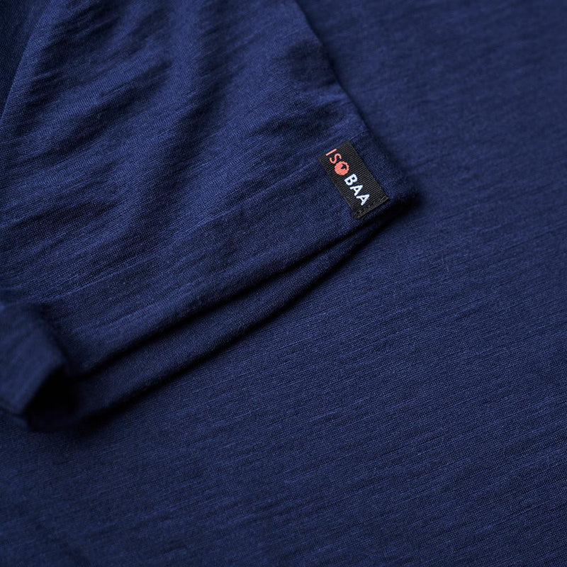 Isobaa Womens Merino 150 Roll Sleeve Tee (Navy)