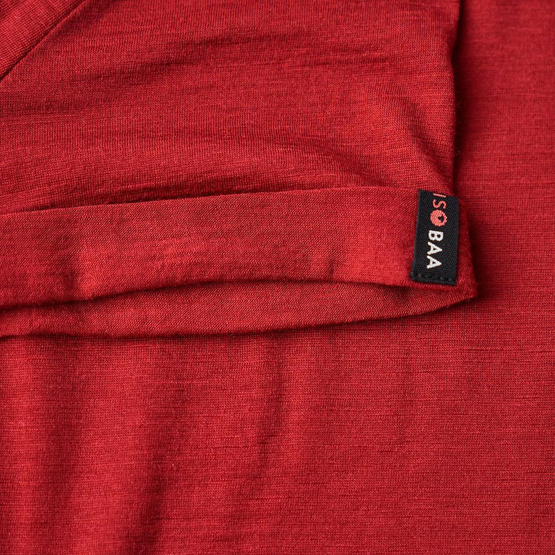 Isobaa Womens Merino 150 Roll Sleeve Tee (Red)