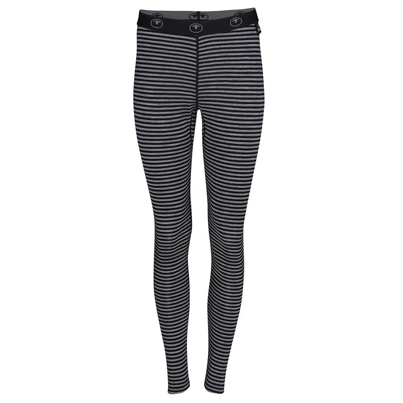 Isobaa Womens Merino 200 Tights (Black/Charcoal)