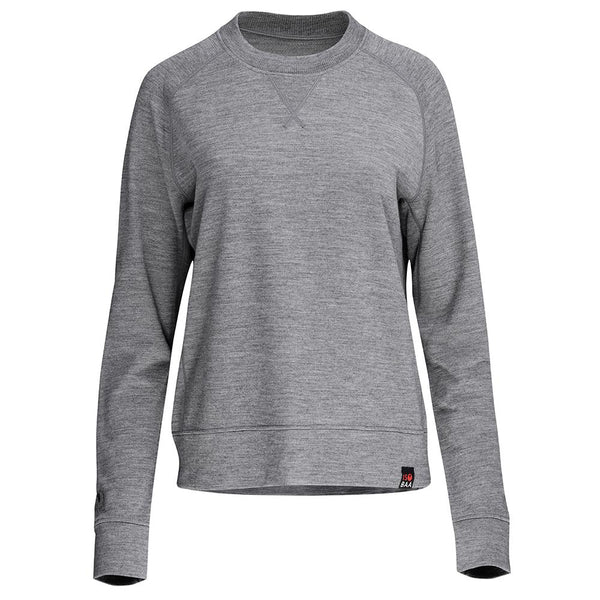 Isobaa Womens Merino 260 Lounge Sweatshirt (Charcoal/Orange)