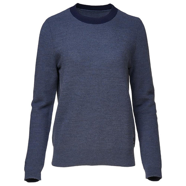Isobaa Womens Merino Honeycomb Sweater (Denim/Navy)