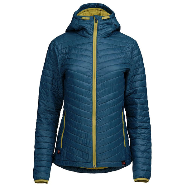Isobaa Womens Merino Wool Insulated Jacket (Petrol/Lime)