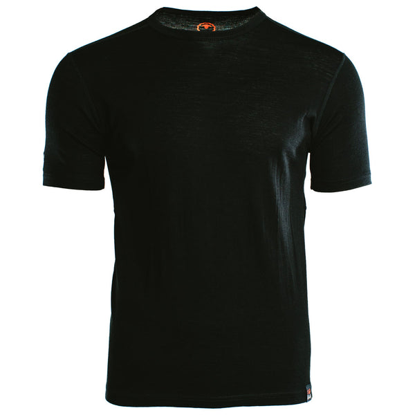 Mens Merino 150 Short Sleeve Crew (Black)