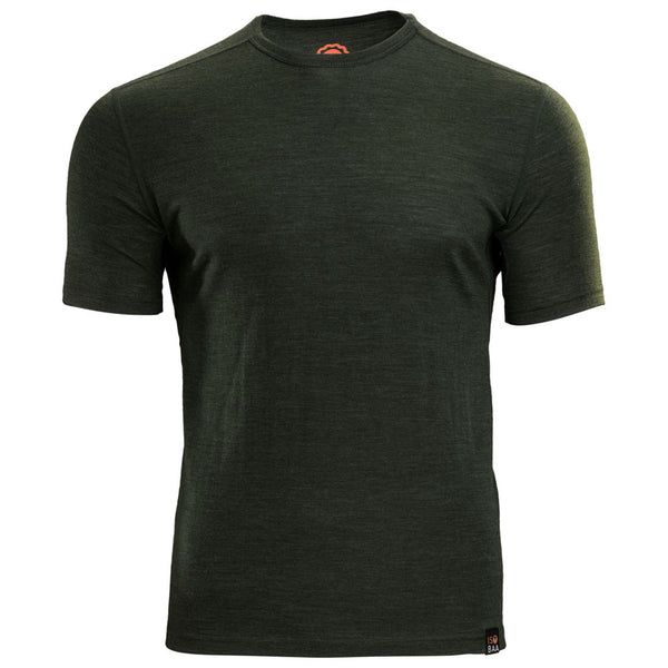 Mens Merino 150 Short Sleeve Crew (Forest)