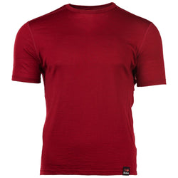 Mens Merino 150 Short Sleeve Crew (Red)