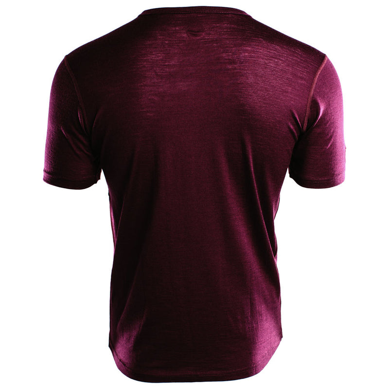 Mens Merino 150 Short Sleeve Crew (Wine)