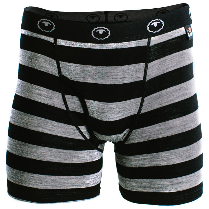 Mens Merino 180 Boxers (Black/Charcoal)