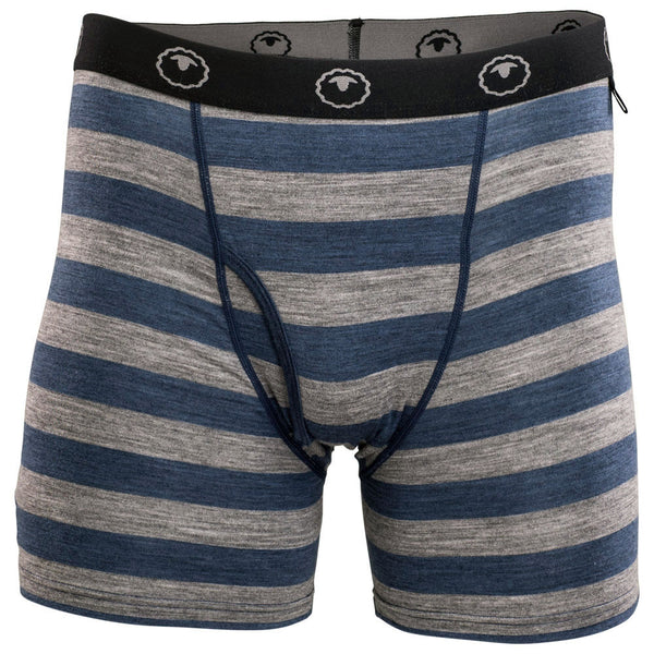 Mens Merino 180 Boxers (Denim/Charcoal)