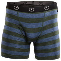 Mens Merino 180 Boxers (Forest/Denim)