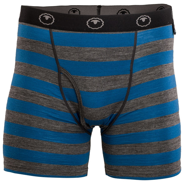 Mens Merino 180 Boxers (Smoke/Blue)