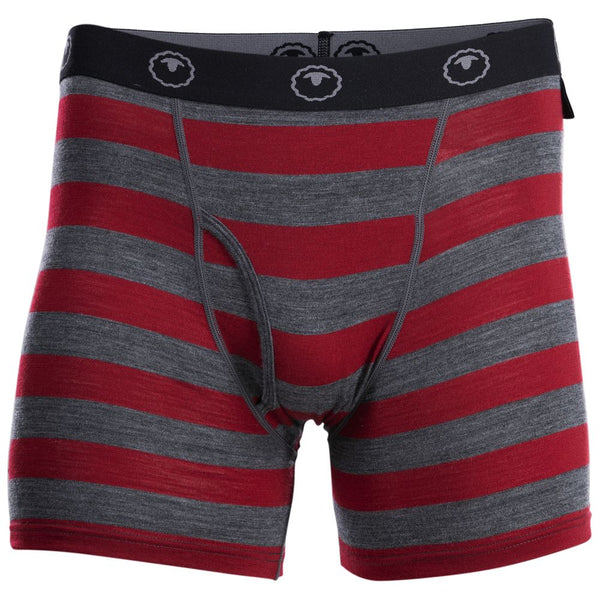 Mens Merino 180 Boxers (Smoke/Red)
