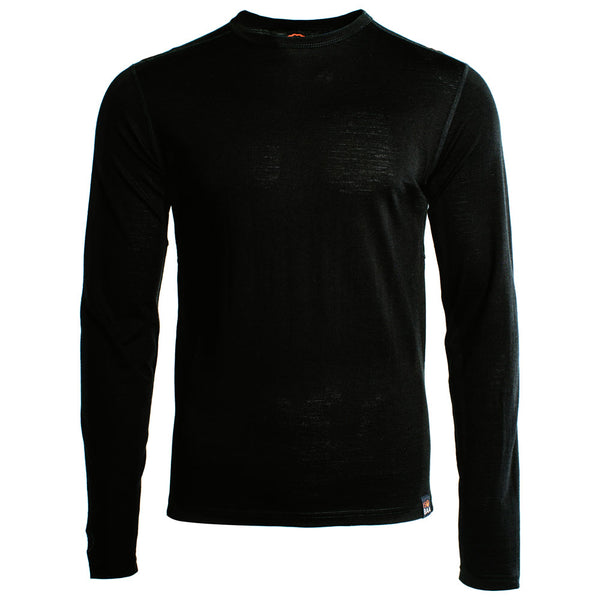 Mens Merino 180 Long Sleeve Crew (Black)