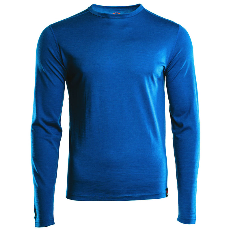 Mens Merino 180 Long Sleeve Crew (Blue)