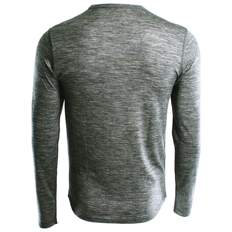 Mens Merino 180 Long Sleeve Crew (Charcoal)