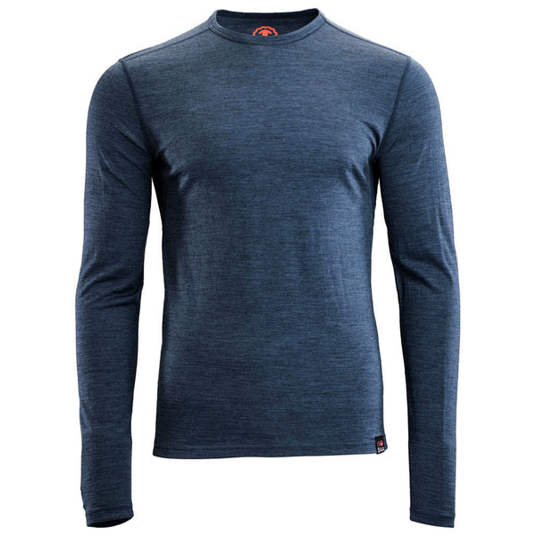 Mens Merino 180 Long Sleeve Crew (Denim)