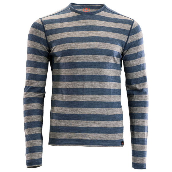Mens Merino 180 Long Sleeve Crew (Denim/Charcoal)