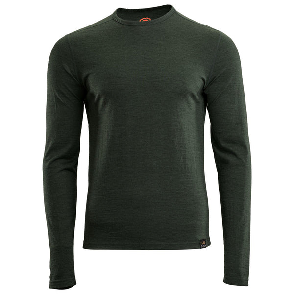 Mens Merino 180 Long Sleeve Crew (Forest)