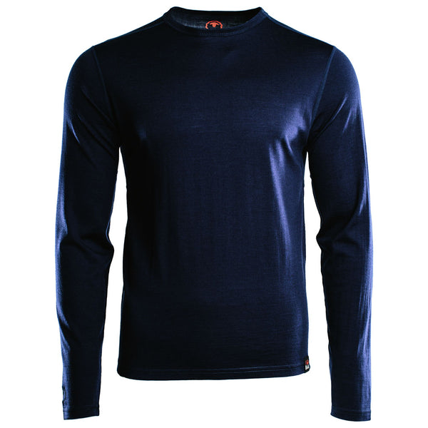 Mens Merino 180 Long Sleeve Crew (Navy)