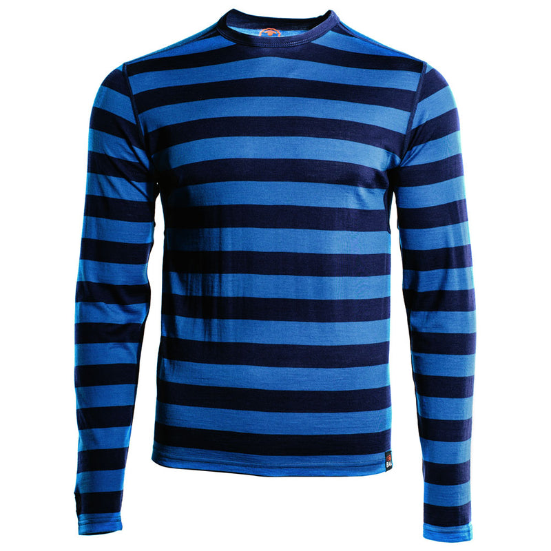 Mens Merino 180 Long Sleeve Crew (Navy/Blue)