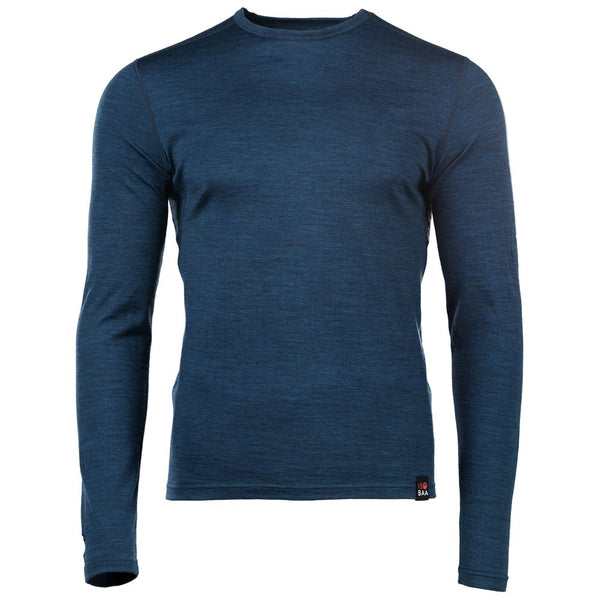 Mens Merino 180 Long Sleeve Crew (Petrol)