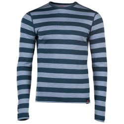 Mens Merino 180 Long Sleeve Crew (Petrol/Sky)