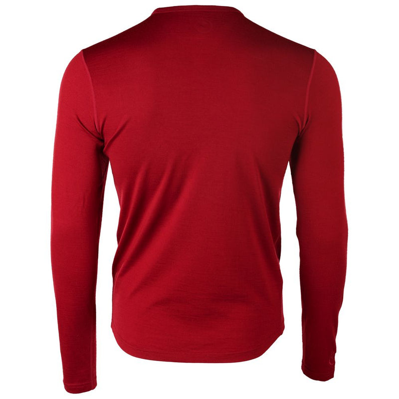 Mens Merino 180 Long Sleeve Crew (Red)