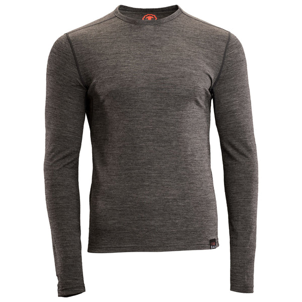Mens Merino 180 Long Sleeve Crew (Smoke)