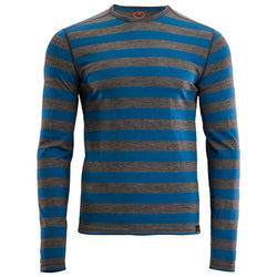 Mens Merino 180 Long Sleeve Crew (Smoke/Blue)