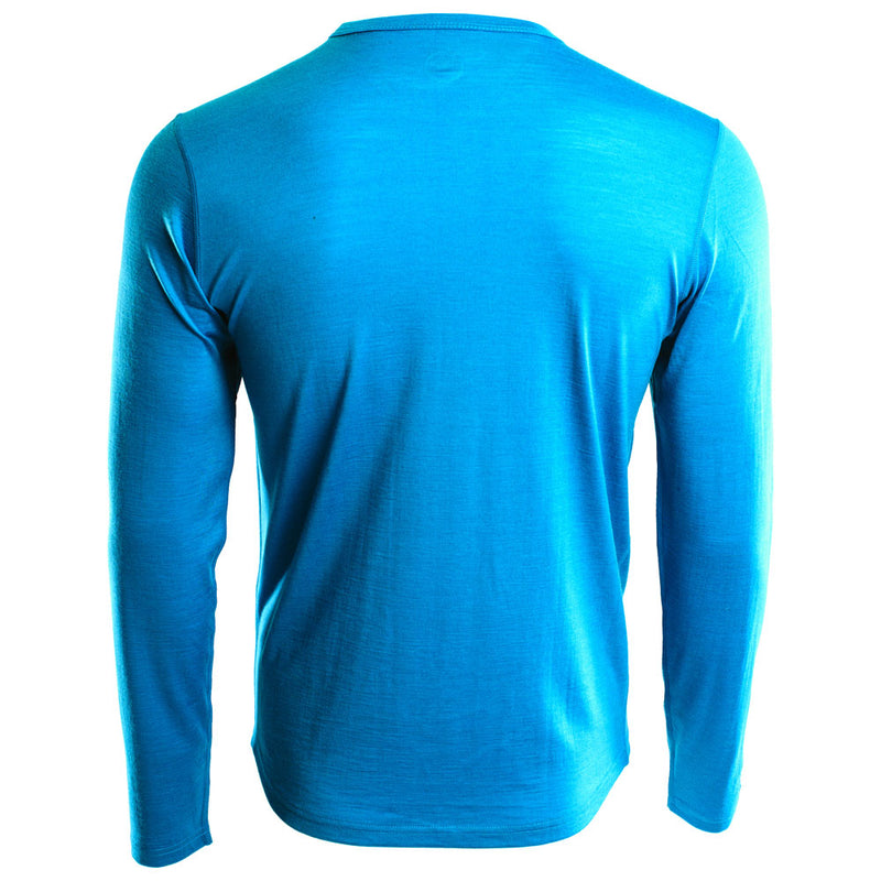 Mens Merino 180 Long Sleeve Crew (Turquoise)