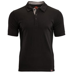Mens Merino 180 Short Sleeve Polo Shirt (Black)
