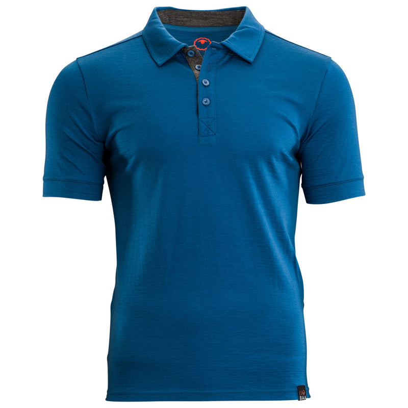 Mens Merino 180 Short Sleeve Polo Shirt (Blue)