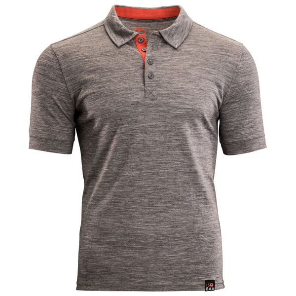 Mens Merino 180 Short Sleeve Polo Shirt (Charcoal)
