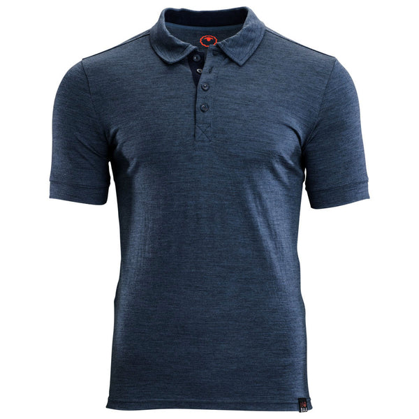 Mens Merino 180 Short Sleeve Polo Shirt (Denim)