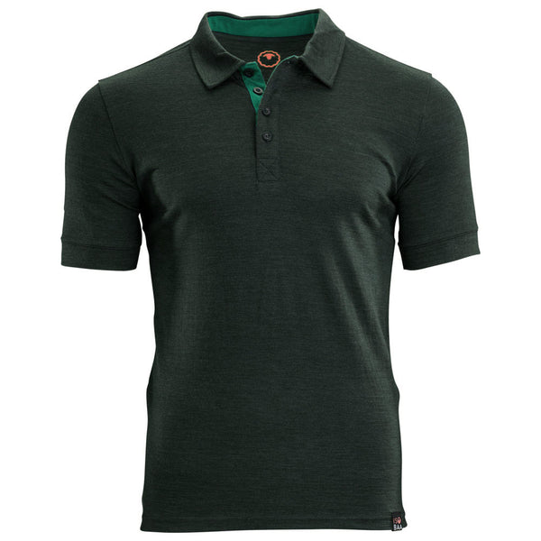 Mens Merino 180 Short Sleeve Polo Shirt (Forest)