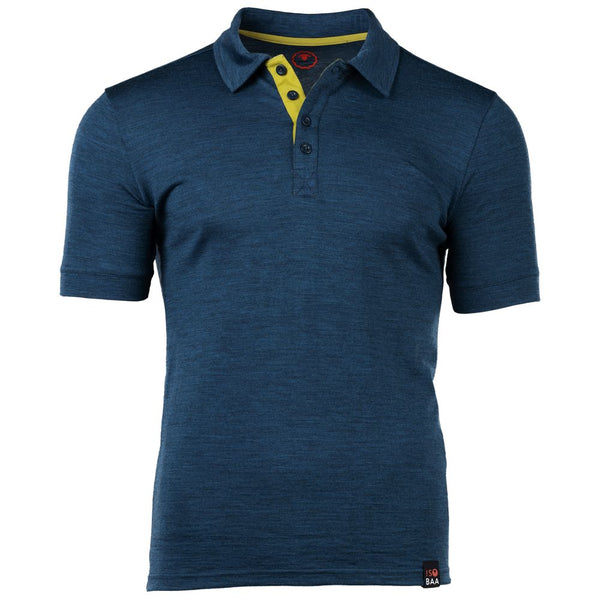 Mens Merino 180 Short Sleeve Polo Shirt (Petrol)