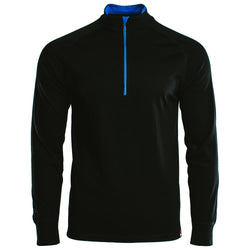 Mens Merino 200 Long Sleeve Zip Neck (Black)